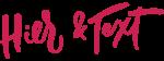 Logo Hier & Text